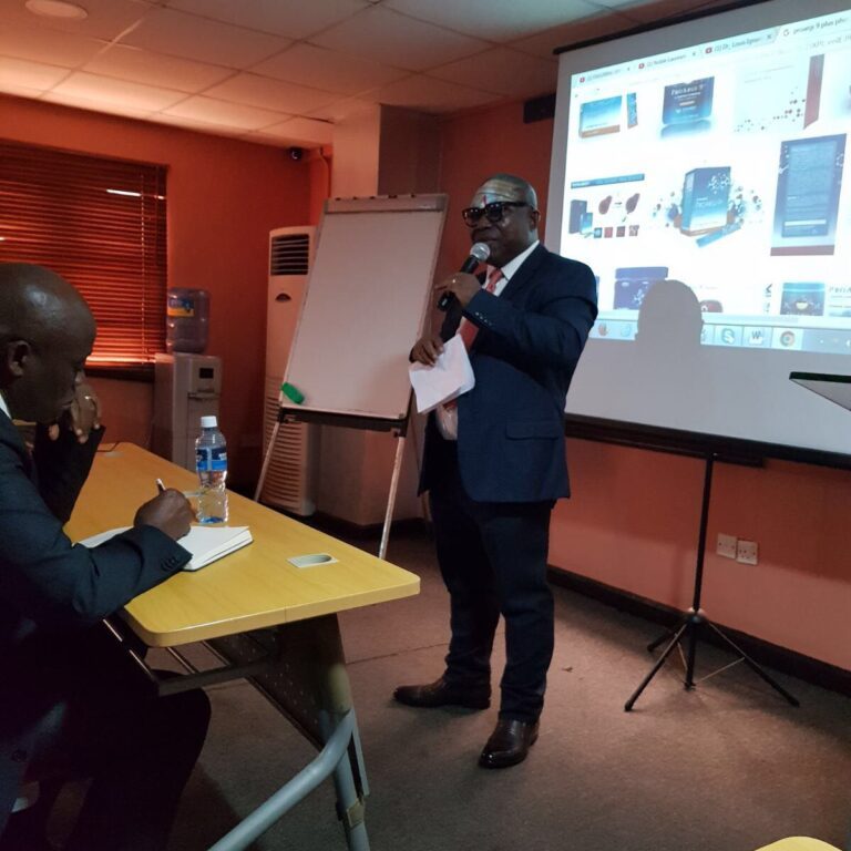Ritleon Nigeria Limited CEO Adressing a seminar on ProArgi-9+ in Lagos